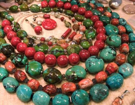 Bijoux Stratagemme - Turquoise, Corail, jaspe rouge... et Argent