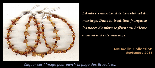 Collection Septembre 2013 - Bracelets Ambre et Argent