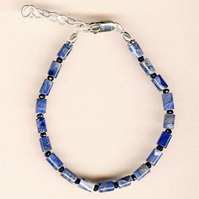 Bracelet Sodalite et Argent
