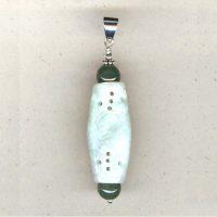 Pendentif jade et Argent