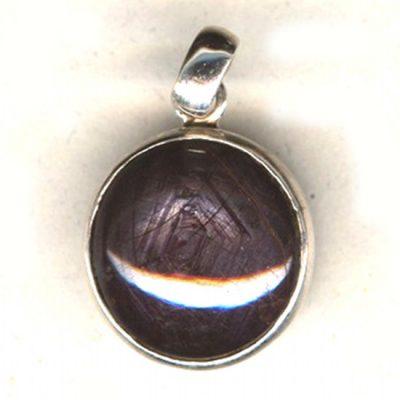 Pendentif Saphir noir et Argent