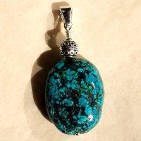 Pendentif Turquoise et Argent
