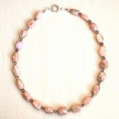 Collier Opale rose et Argent