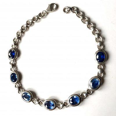 Bracelet Cyanite et Argent