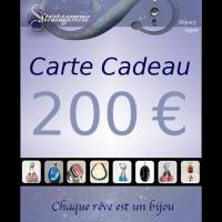 Carte Cadeau de 200 euros