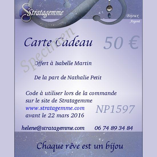 Carte cadeau Stratagemme 50€
