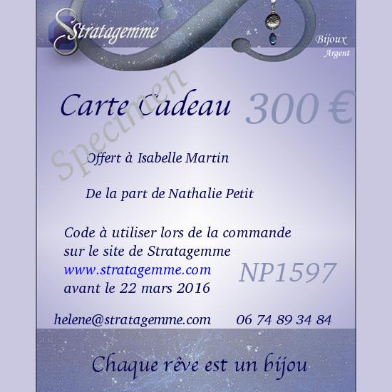 Carte cadeau Stratagemme 300€