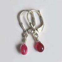 Boucles d'oreilles Tourmaline rose et Argent