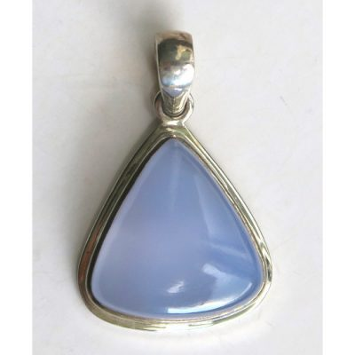 Pendentif Calcédoine bleue et Argent