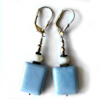Boucles d'oreilles Opale bleu et Argent