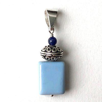 Pendentif Opale bleue et Argent