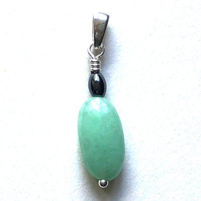 Pendentif Jade jadéite et Argent