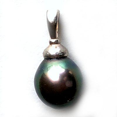 Pendentif Perle noire de Tahiti et Argent