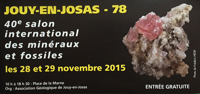 Salon International des minéraux et fossiles - Jouy-en-Josas