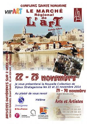 Marché de l'Art - Conflans Ste Honorine (78)