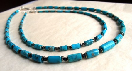 Colliers Turquoise et Argent