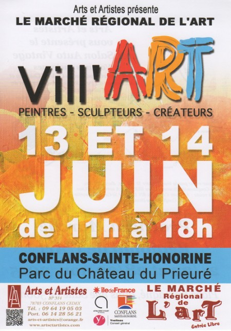 Marché régional de l'art - Vill'ART - Conflans Ste Honorine