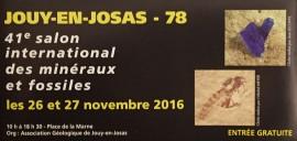 Salon International des Minéraux et Fossiles - Jouy-en-Josas 78