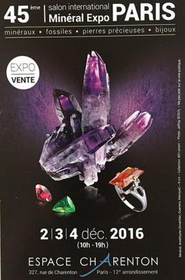 Salon International des Minéraux et Fossiles 2016 - PARIS