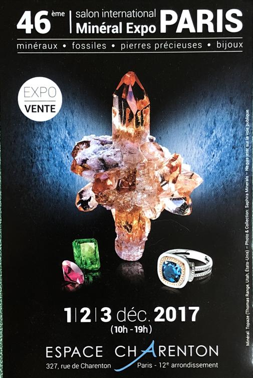 Salon Minéraux et Bijoux PARIS Décembre 2017