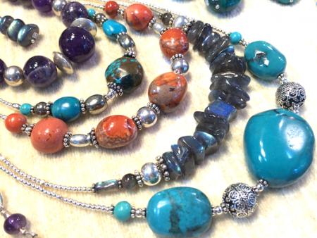 Colliers Turquoise, Labradorite, Jaspe - Bijoux Stratagemme