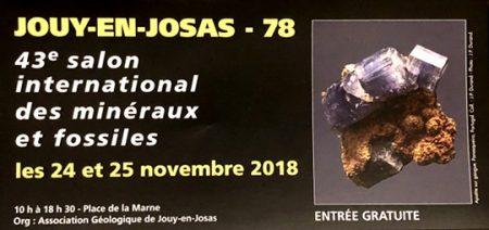 Salon international des Minéraux - Jouy-en-Josas Novembre 2018