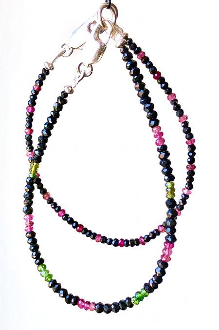 Bijoux sur mesure : Bracelets Tourmaline et Argent