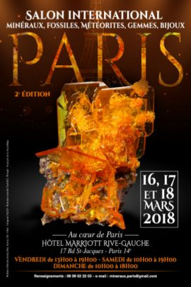 Salon International Minéraux, Gemmes, Bijoux - PARIS 2018
