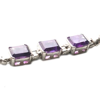 Bracelet Améthyste et Argent