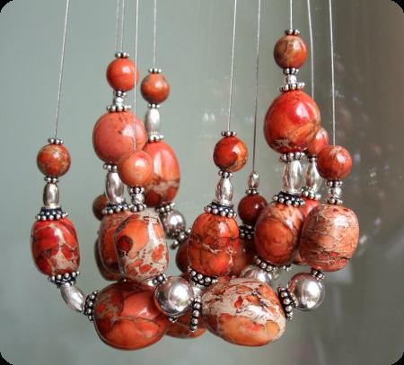 Atelier Perles Jaspe orange