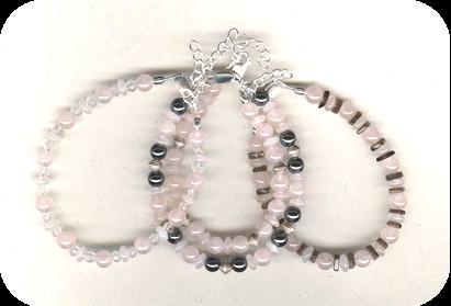 Bracelets Quartz rose