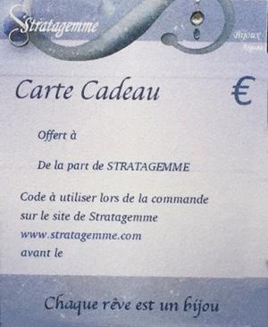 Carte Cadeau STRATAGEMME personnalisée